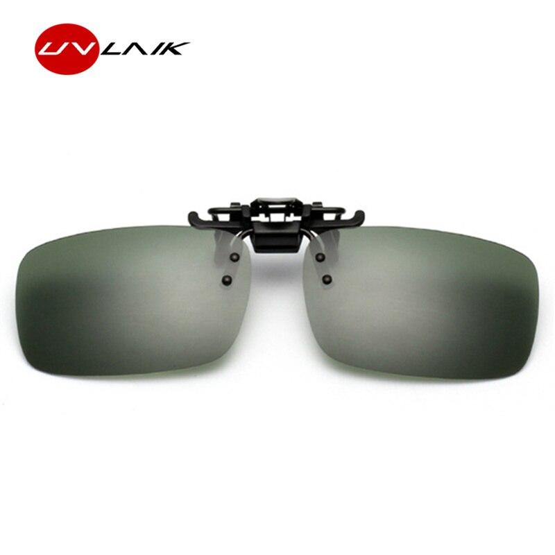 e5c5aac5c83 UVLAIK Day Night Driving Glasses Polarized Clip on Sunglasses Men Women  Myopia Glasses Men Brand Flip Up Sun Glasses UV400