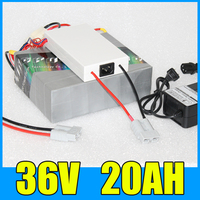 36V Lithium li ion 20AH Battery Pack , 42V 500W Electric bicycle Scooter bafang 36v Battery , Free BMS Charger Shipping