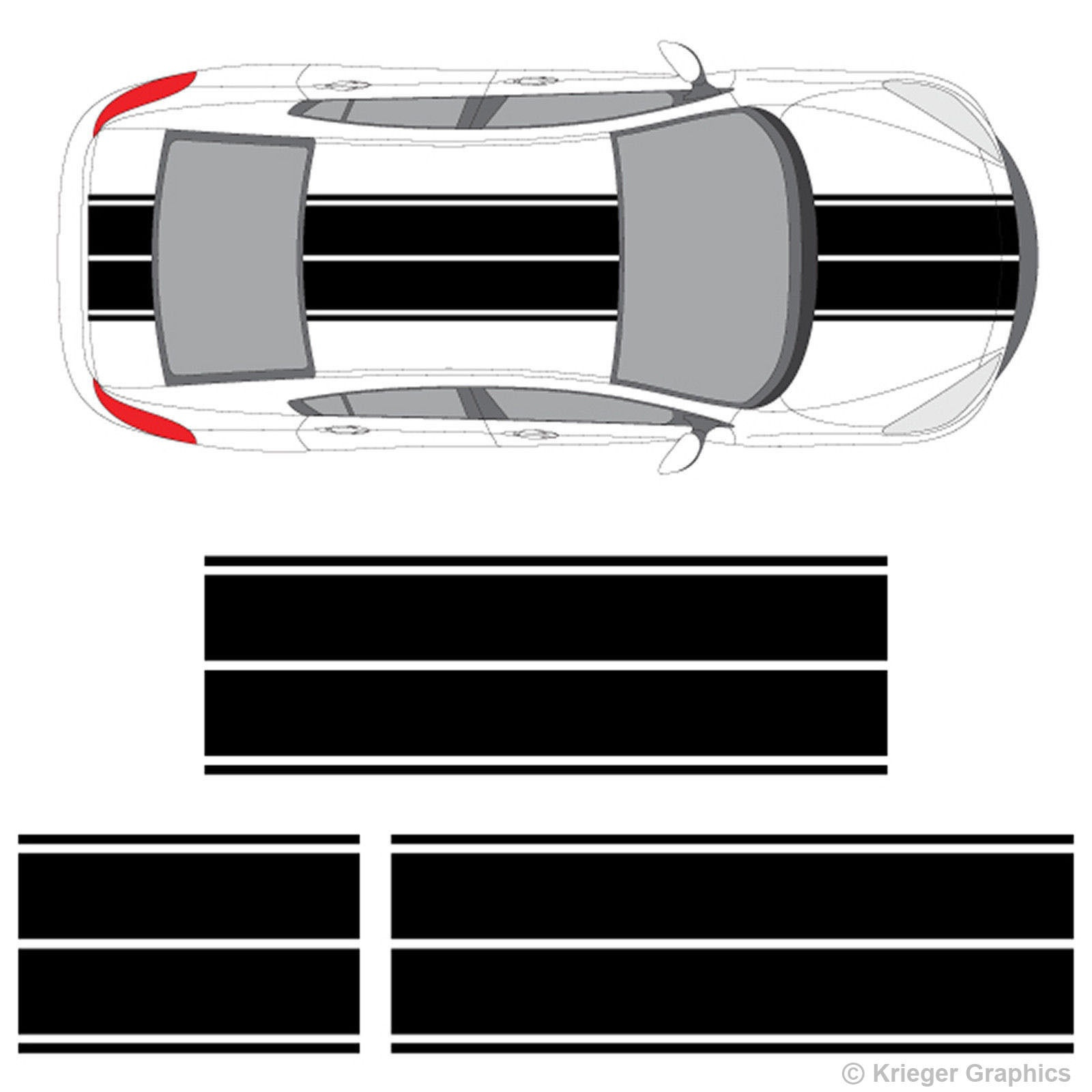 MAZDA RACING 2 3 5 7 RX7 RX8 Miata Mazdaspeed Decal sticker emblem logo Pair W