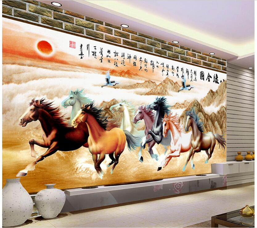 3d wallpaper custom mural non-woven photo Horse pentium TV backdrop decoration painting 3 d wall murals wallpaer for living room