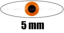 5mm FL. Orange / Wholesale 700 Soft Molded 3D Holographic Fish Eyes, Fly Tying, Jig, Lure Making 3/16