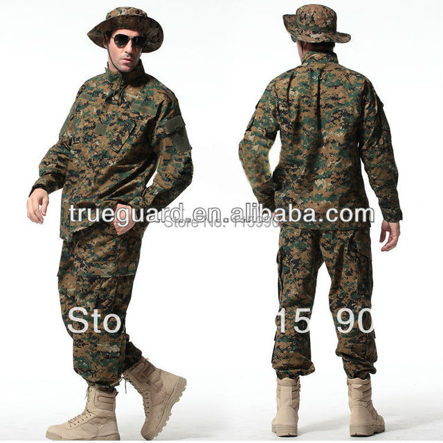 Woodland Digital ACU uniformes Camo rendimiento chaqueta y los pantalones militares pantalones cargo tácticos uniforme