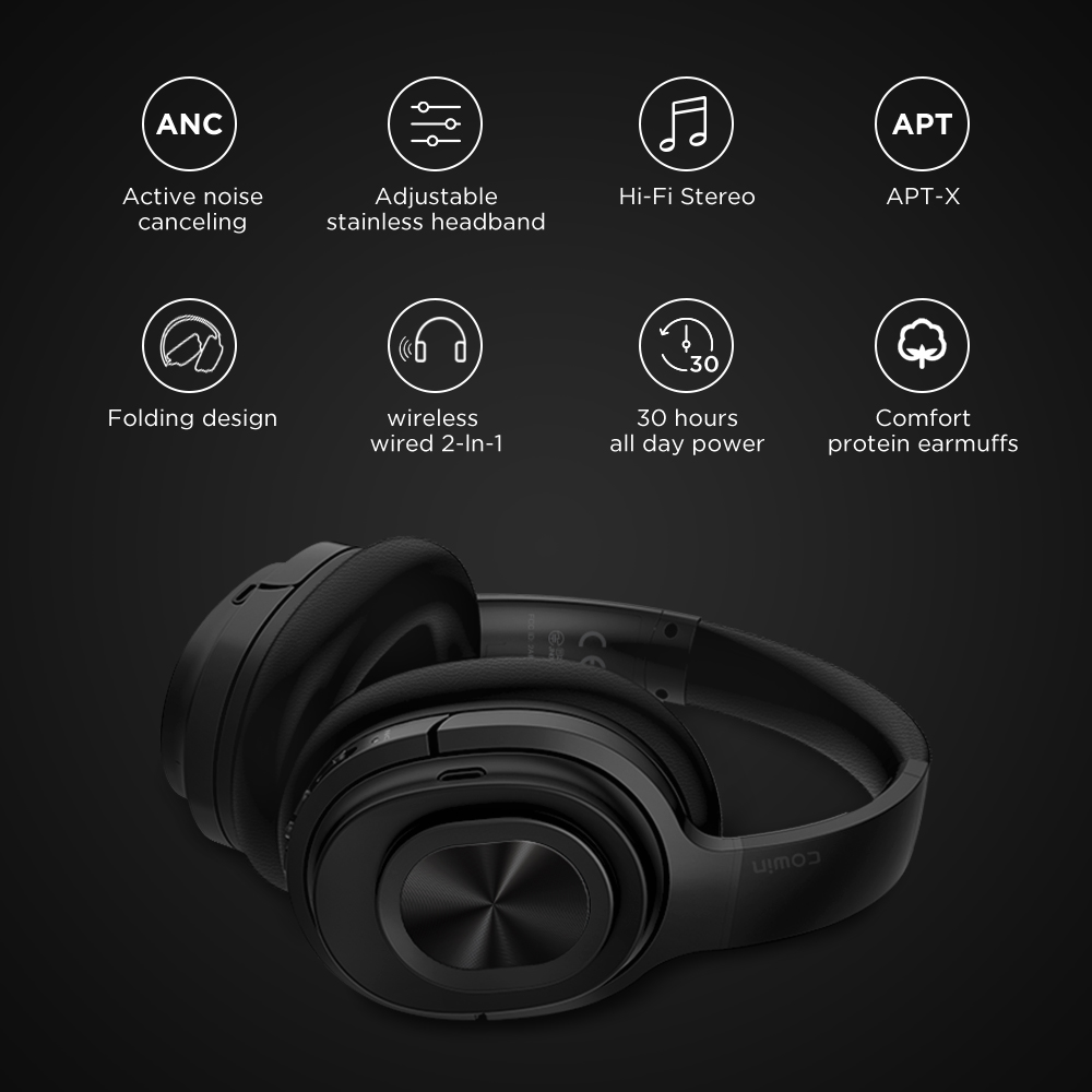 Image 4 - Cowin SE7MAX Active Noise Canceling headphone Bluetooth Wireless headphones aptx Deep Bass Headset 30H Play and Game Time-in Bluetooth Earphones & Headphones from Consumer Electronics