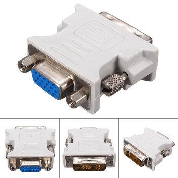 цена на Mayitr 1pc Professional DVI-D to VGA Adapter 18+1 Pin DVI Male to 15 Pin VGA Female Plug Adapter Converter for PC Laptop