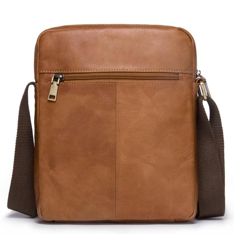 Genuine Leather Man Single Shoulder Package Oblique Satchel Fashion Leisure Time Male Messenger Bag Men Free Shipping Briefcase