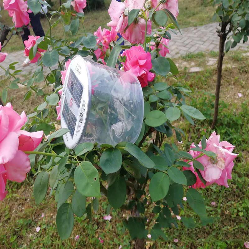 Sıcak Satış 10LED Kamp Güneş Enerjili Katlanabilir Şişme Taşınabilir Işık Lambası Bahçe Yard Için Led Güneş Işığı Açık