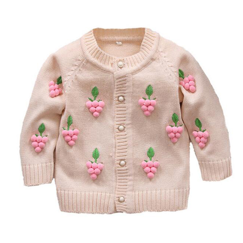 Autumn New Girl Outerwear Sweater Rainbow Clouds Embroidery Knit