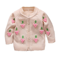 2016 Spring Autumn Children's Clothes Baby Long-Sleeved Cotton Girl Cardigan Sweaters Kids Sweatercoat