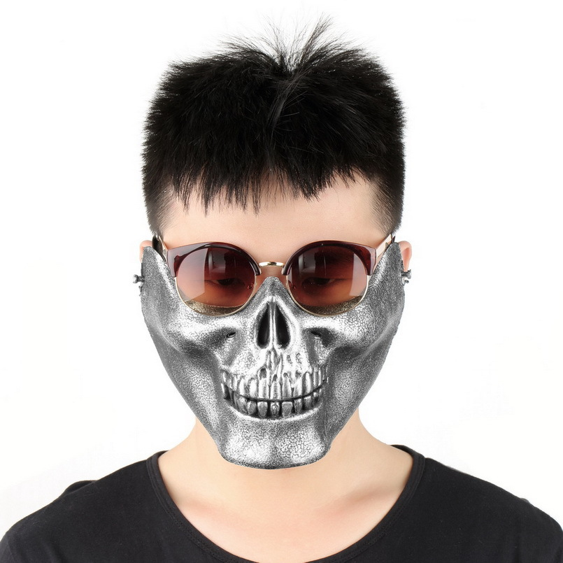 Skull Skeleton Airsoft Game Hunting Biker Half Face Protect Gear Mask Guard Hot Sale