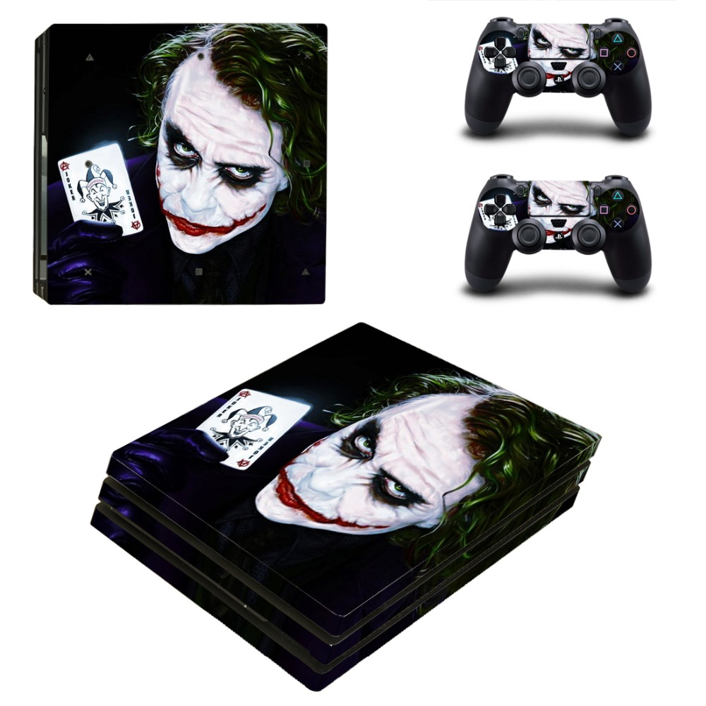 PS4 Pro Joker Skin Sticker Cover For Sony Playstation 4 Pro Console&Controllers