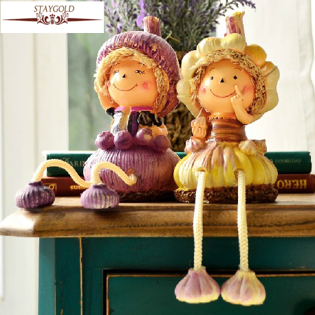 Zakka Pastoral Resin Craft Ornaments Home Decor Jewelry Wedding Decoration Couple Gifts Suspending Doll 1 Pair/set