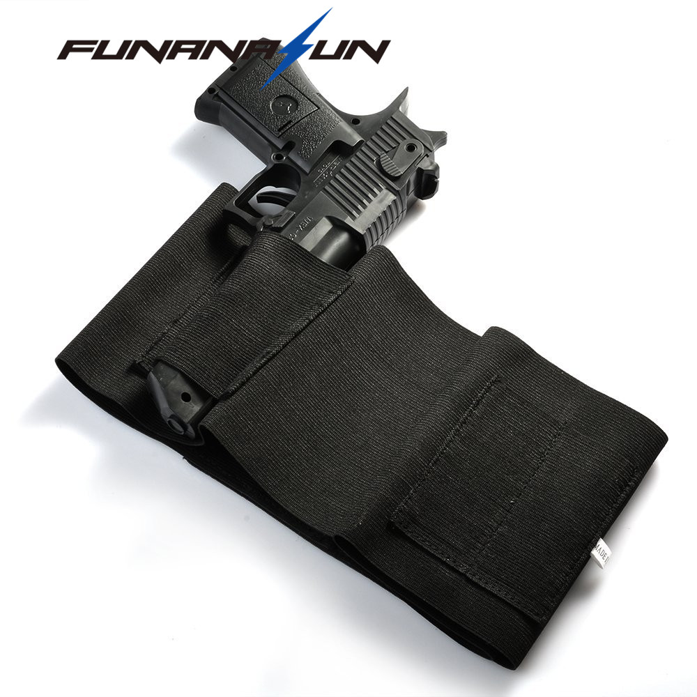 37 Einstellbare Tactical Elastischen Bauch Band Taille Pistole Sarung Pistol Airsoftgun Holster Tersembunyi Getsubject Aeproductgetsubject