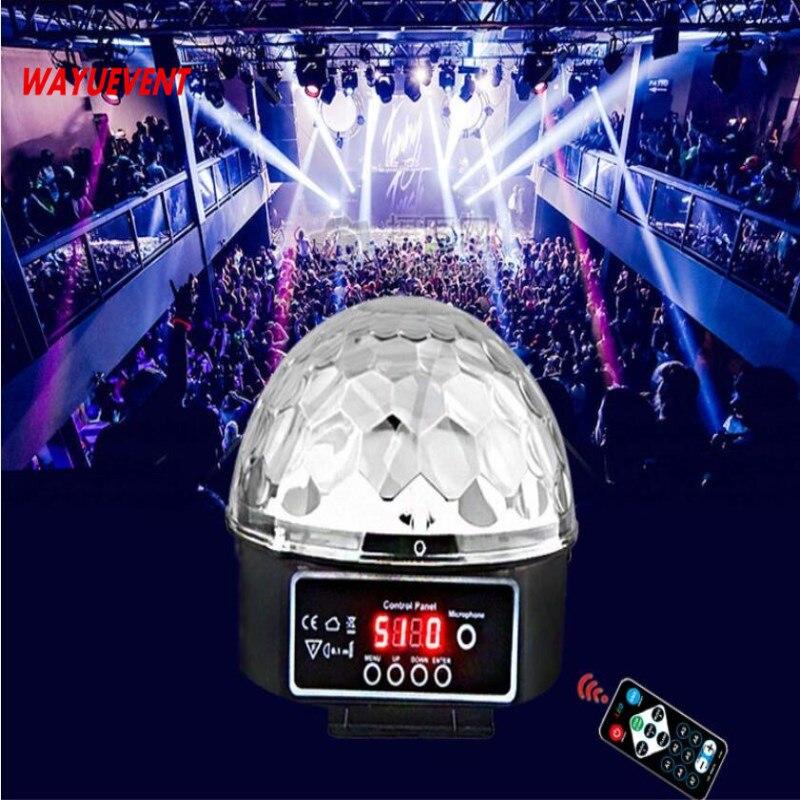 9 colori 27 w di Cristallo Magic Ball Led Della Fase Della Lampada 21 Modalità di Luce Laser Della Discoteca Del Partito di Luci di Controllo del Suono DMX lumiere Laser
