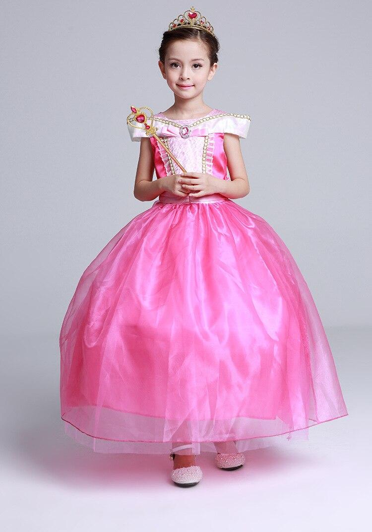 langes Mädchenkleidprinzessin-Schlafschönheit formales Kleid - Kinderkleidung - Foto 2