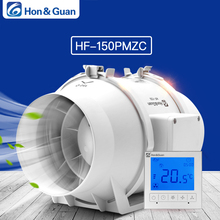 Hon&Guan 6 Inch HF-150PMZC Timer Extractor Inline Duct Fan with Smart Switch; 220~240V; Free shipping By DHL or UPS стоимость