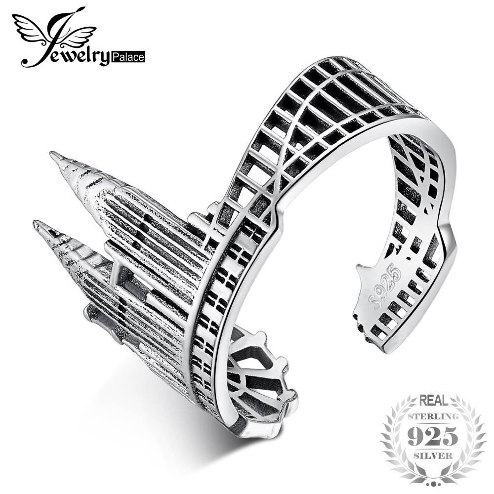 JewelryPalace 925 Sterling Silver Vintage World Travel Souvenir Twin Towers Adjustable Open Ring New Hot Sale As Beautiful GiftJewelryPalace 925 Sterling Silver Vintage World Travel Souvenir Twin Towers Adjustable Open Ring New Hot Sale As Beautiful Gift