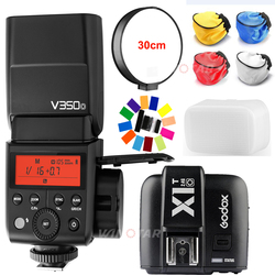 Godox TTL V350O Camera Flash HSS 1/8000s GN36 0.1s~1.7s recycle Built-in Lithium Battery+Transmitter X1T-O For Olympus/Panasonic