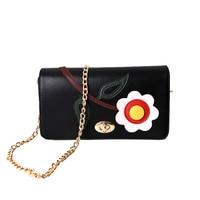 Brand Crossbody Bag Casual Shoulder Bags Flap Pu Solid Soft Zipper Cover Flower Single High Quality