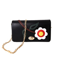 Brand Crossbody Bag Casual Shoulder Bags Flap Pu Solid Soft Zipper Cover Flower Single High Quality