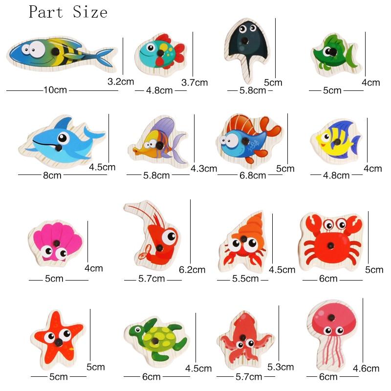 Logwood 60pcs Set Magnetic Fishing Toy Game Kids 3 Rod 3D Fish Baby - გარე გართობა და სპორტი - ფოტო 6