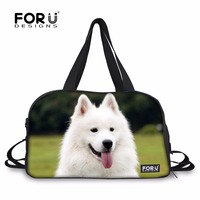 FORUDESIGNS Sports Bags for Fitness Gym Bag Yoga Mat Handbag Cute Samoyed Dog Printg Outdoor Training Shoulder Bag Waterproof