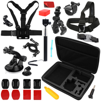 SHOOT For Gopro Accessories Go Pro Helmet Chest Head Strap Float Bobber Motorcycle Bracket For Xiaomi