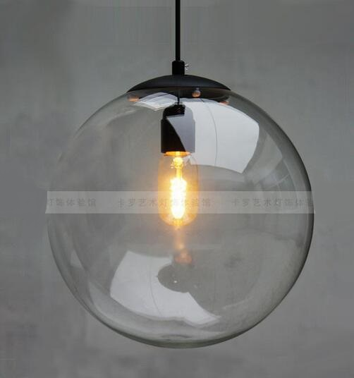 fclear glass ball ree shipping Pendant Lights lamp Crystal ball bar coffee living room pendant glass ball pendant lamps