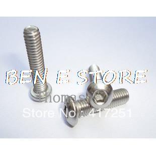 Lot100 Metric Thread M4*10mm Stainless Steel inside Round Hexagon Bolts Screws 100pcs din934 m1 4 m1 6 m2 m2 5 m3 m4 carbon steel hex nut hexagon nuts metric thread suit for screws bolts hw010