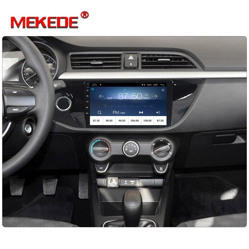 Ultra pas cher! lecteur dvd de voiture Mekede android8.1 avec lecteur stéréo de voiture audio pour KIA RIO K2 2017 KIA K2 wifi BT menu russe