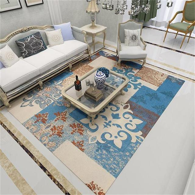Washable Europe Rugs And Carpets For Home Living Room Romantic Bedroom Area Rug Study Floor