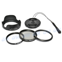 KIWIFOTOS 58MM UV CPL FILTERS LENS HOOD CAP KEEPER LENS ADAPTER RING KIT FOR CANON SX50