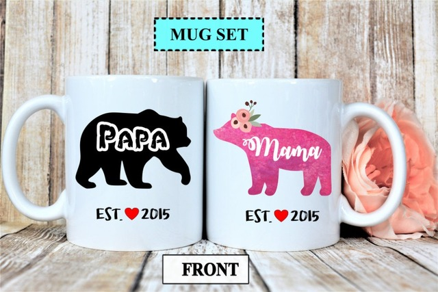 custom year couple new parents gifts mugs beer travel milk cup