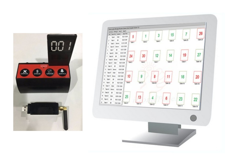 Pocsag table locator, track where is guests seat, fast waiter service, multi keys table number call button, USB transmitterPocsag table locator, track where is guests seat, fast waiter service, multi keys table number call button, USB transmitter