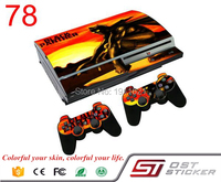 OSTSTICKER Vinyl Skin cover for ps3 Fat vinyl sticker for PlayStation 3 Fat console and 2 pcs controller decal