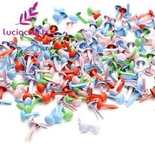 Lucia crafts 50 шт 1x0,6 см пастельные Круглые Металлические Brads DIY Скрапбукинг декоративные застежки Брэд металлические ручной работы G0937