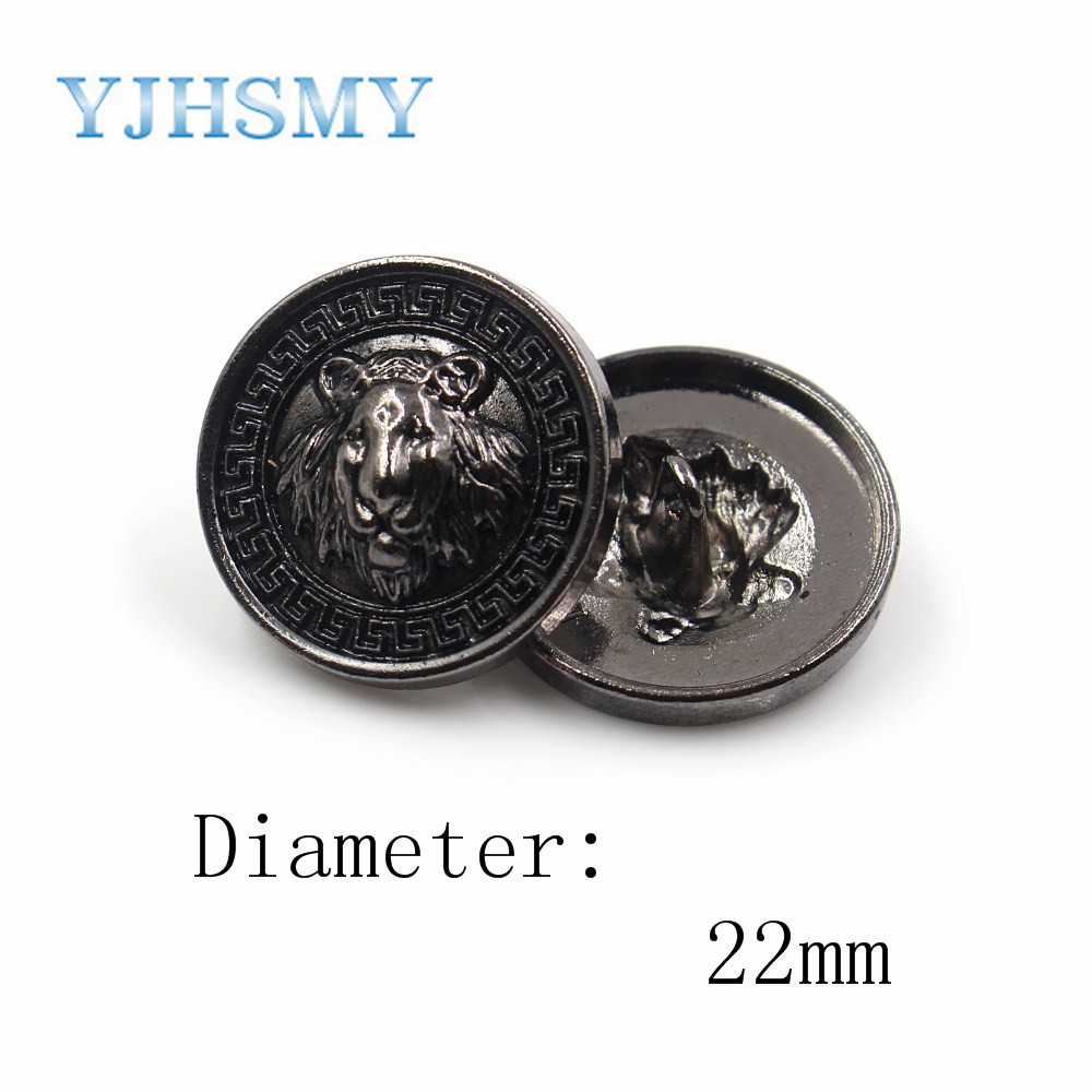 Handmade Poly Clay Button with Metal Base Shank bottom Half Dome 2PCS 22mm