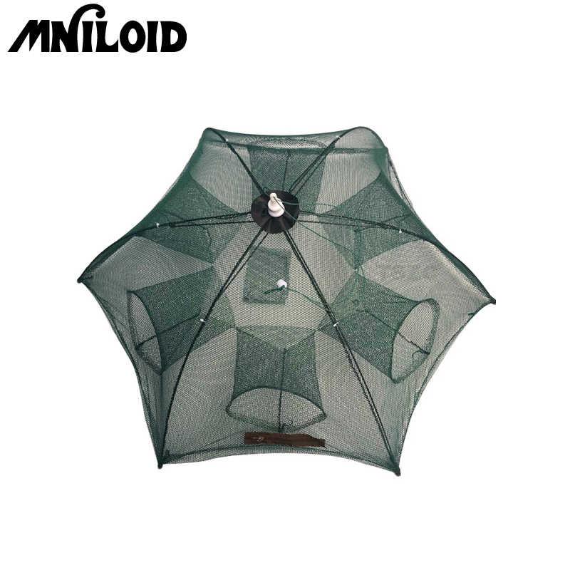 Wholesale 4/6/8/10 Hole Mesh Hexagon Folded Fishing Net