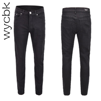Wycbk 2018 New Mens Jeans Casual Jeans Regular Fit Straight Leg Elasticity Jeans Stretch Long Trousers