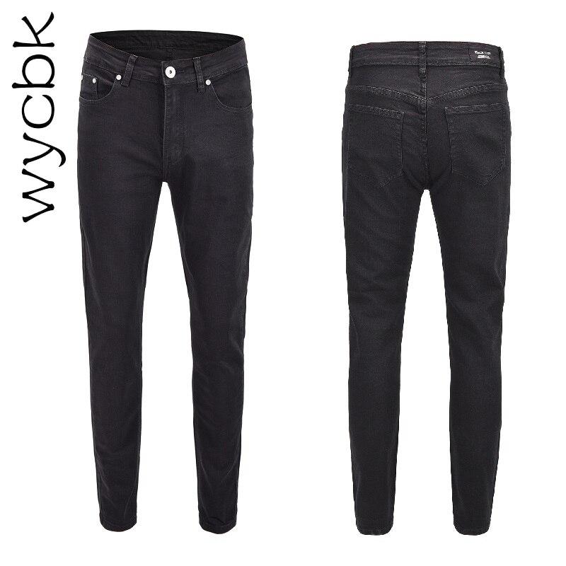 Wycbk 2018 Nouveau Hommes Jeans Casual Jeans Regular Fit Straight Leg Élasticité Jeans Stretch Pantalons Longs
