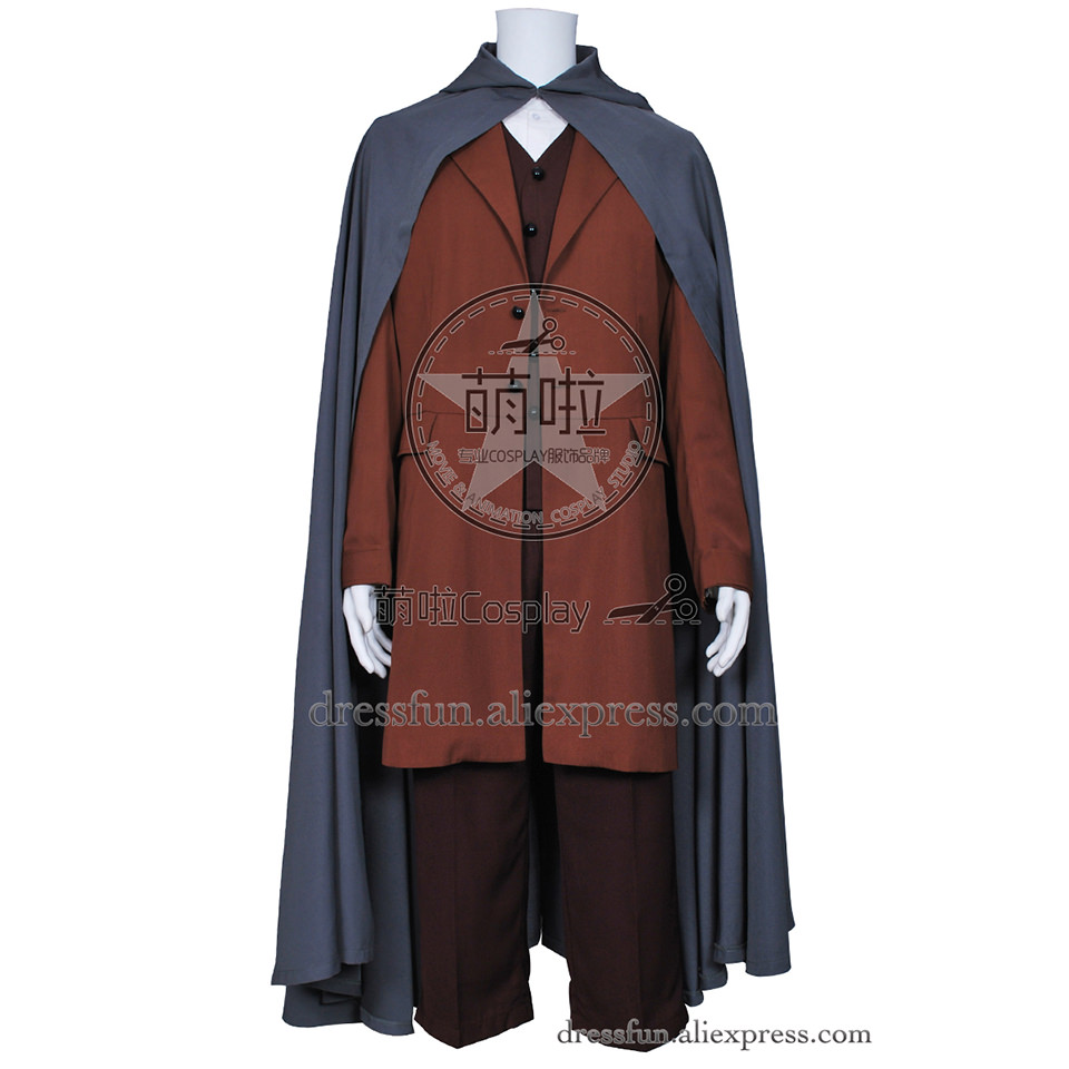 The Lord of the Rings Cosplay Frodo Baggins Costume Cape Coat Uniform Outfits Suit Halloween Fashion Party Fast Shipping