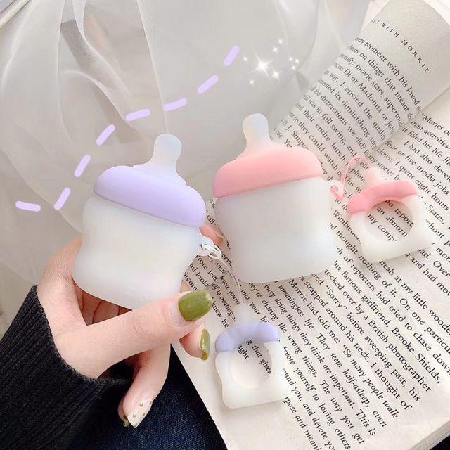 علبة سماعات لاسلكية مزودة بتقنية البلوتوث لأجهزة Apple AirPods للأغراض العامة مصنوعة من السيليكون للشحن مزودة بغطاء واقي