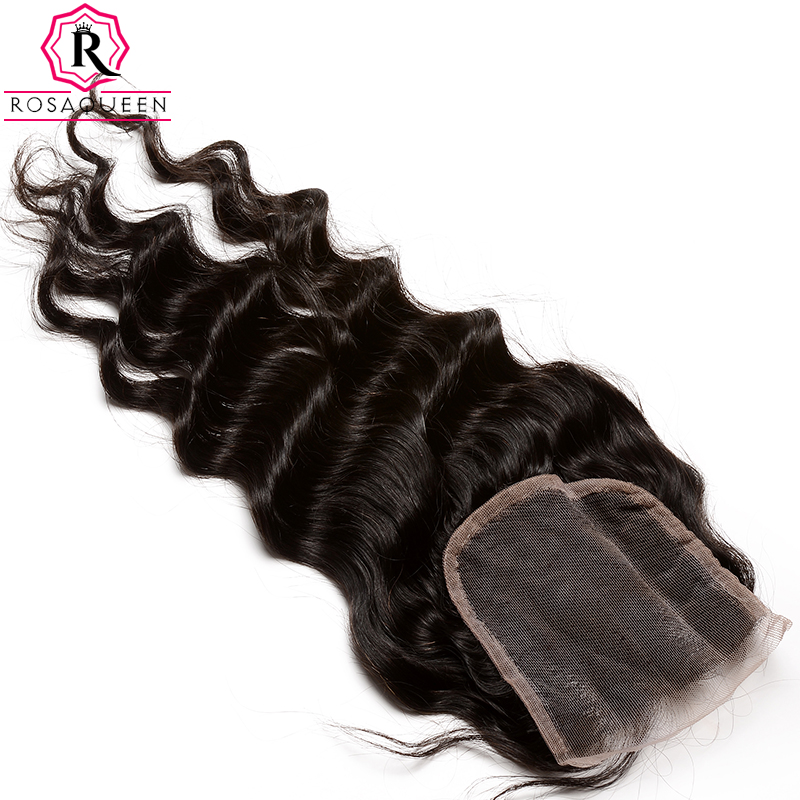 Dolago Loose Wave Lace Closure 100 Human Hair Remy Hair Natural Black Color Free Part With
