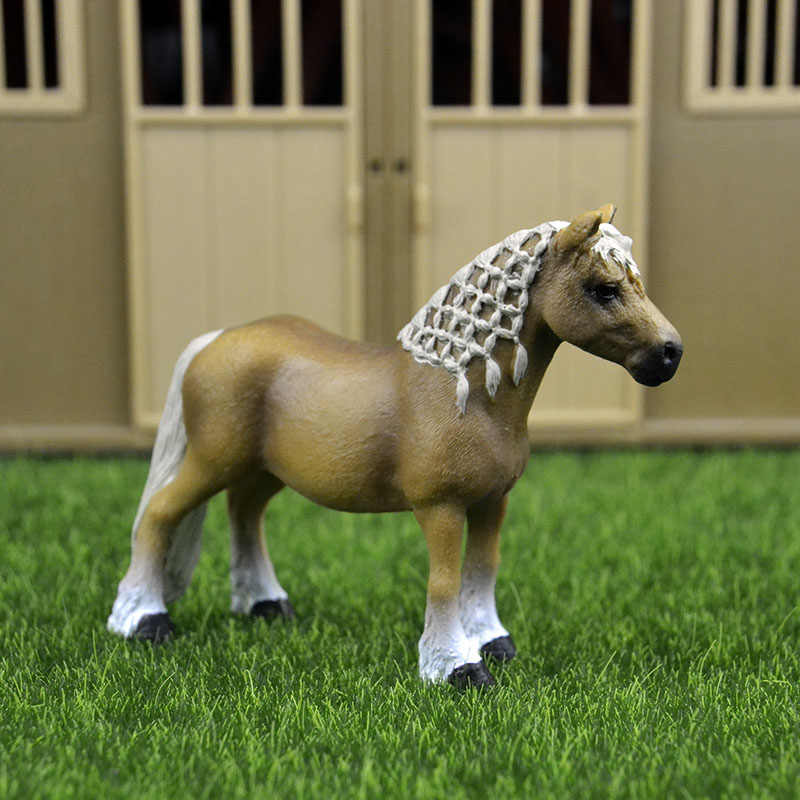 Original genuine Wild farm Animal Haflinger horse Figurine figure Model kids toy collectible