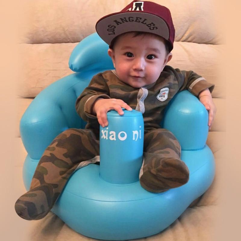 Baby Kid Kinder Aufblasbare Bad Sofa Sessel Sitz Lernen Tragbare Multifunktionale YH-17