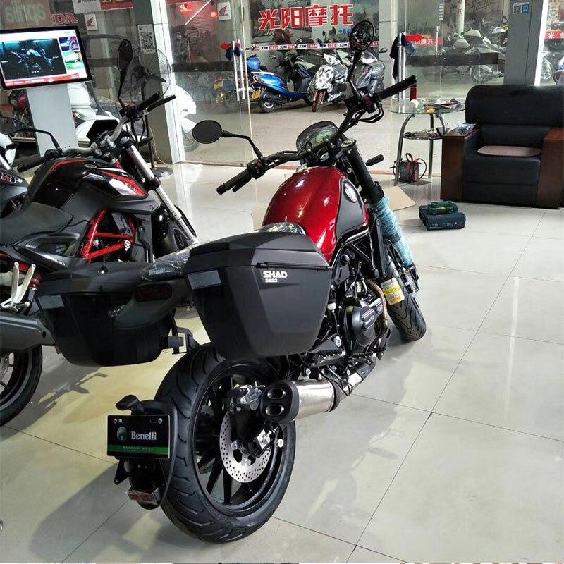 Pour Benelli Leoncino BJ500 BJ 500 SHAD SH23 boîtes latérales + porte-bagages latéral moto valise latérale sacoches de selle support système de support