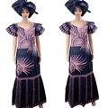 VESTIDOS PARA LAS MUJERES AFRICANAS africano bazin riche deisgn vestidos vestido largo diseño de bordado (160 cm de longitud) vestido largo con la bufanda