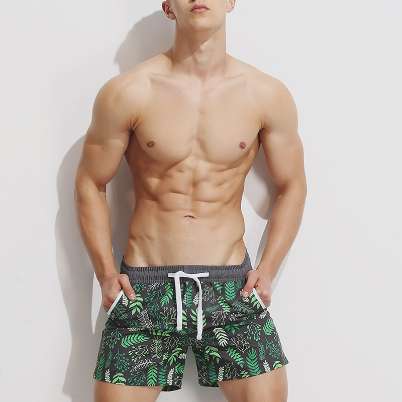 2018 New Summer Cool Sea Casual   Short   Bottoms Men Drawstring Beach   Board     Shorts   Trunks Quick Drying Pockets   Shorts   Plus Size