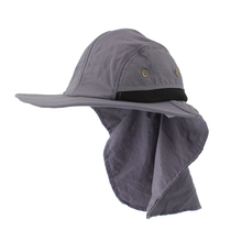 49008e91083 Outdoor Fishing Hiking Boonie Snap Hat Brim Ear Neck Cover Sun Flap Cap (China)