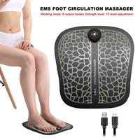 EMS Foot Circulation Massager Therapy Electric Massager Foot Boost Circulation Relief Aching Feet Legs Pulse Massager