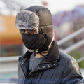 Winter Skullies and Beanies with Mask Winter Man Aviator Hats Russian Hat Sport Outdoor Ear Flaps Bomber Caps for Men 2015